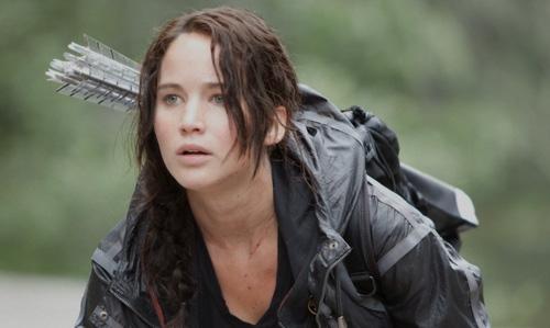 Katniss durante os jogos