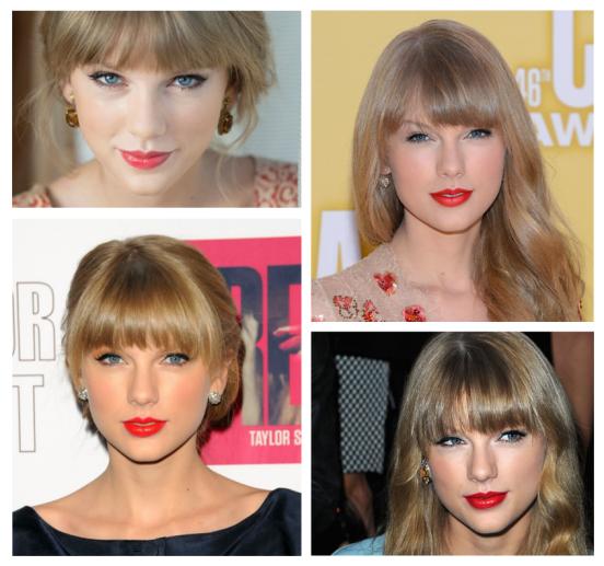 Taylor, a boca vermelha e o delineado preto