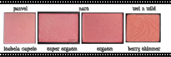 Foto dos blushes da NARS daqui: http://www.allurabeauty.com/2011/review-nars-danmari-all-about-cheeks-palette/