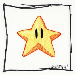 Selo ALL THE FEELS Mario Star de Aprovação