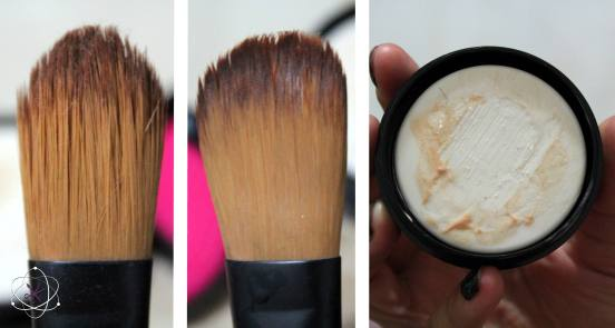 Pincel sujo e limpo: antes de depois do Sephora Dry Cleaner